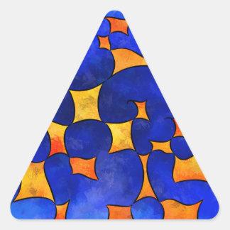 Pegatina Triangular Cubos de fusión de Blesmios V1-