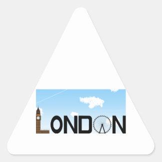Pegatina Triangular D3ia del horizonte de Londres