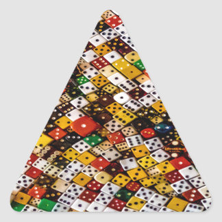 Pegatina Triangular Dados