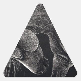 Pegatina Triangular Dappledprint