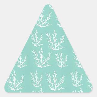 Pegatina Triangular debajo del mar