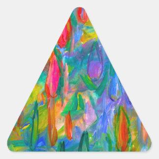 Pegatina Triangular Descensos del color