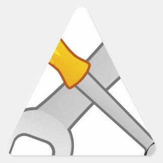 Pegatina Triangular Destornillador y llave
