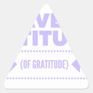Pegatina Triangular Detox AA de la recuperación de la gratitud de la