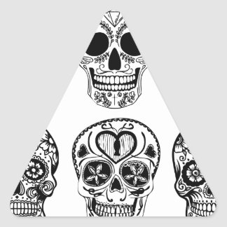 Pegatina Triangular Dia de los Muertos Skulls (día de los muertos)