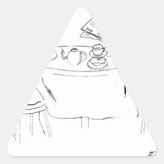 Pegatina Triangular Dibujo animado de conmutación 1098