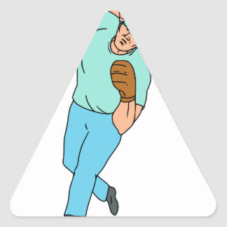 Pegatina Triangular Dibujo animado del movimiento de la jarra del