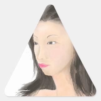 Pegatina Triangular Dignificado [kanji japonés]