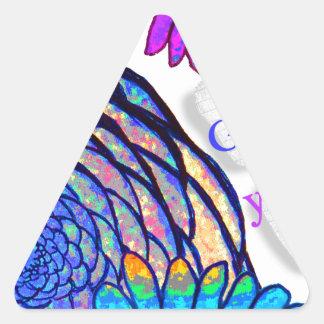Pegatina Triangular ¡Dios ama le y me!