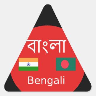 Pegatina Triangular Diseño bengalí de la lengua