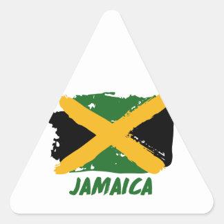 Pegatina Triangular Diseño de la bandera de Jamaica