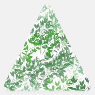 Pegatina Triangular Diseño frondoso del modelo