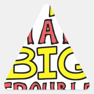 Pegatina Triangular Diseño grande del niño del problema del pequeño