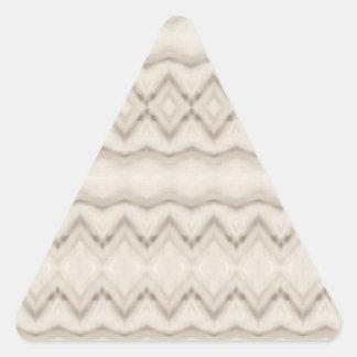 Pegatina Triangular Diseño tribal del modelo de zigzag de la pluma