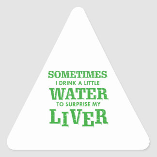 Pegatina Triangular Diseños divertidos del hígado