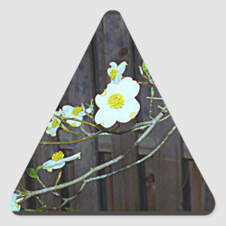 Pegatina Triangular Dogwood de New Jersey