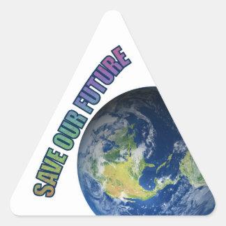 Pegatina Triangular ¡DTH2GOP!  Ahorre nuestro futuro, ahorre a