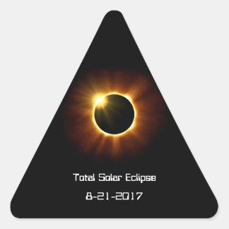 Pegatina Triangular Eclipse solar total - pegatinas