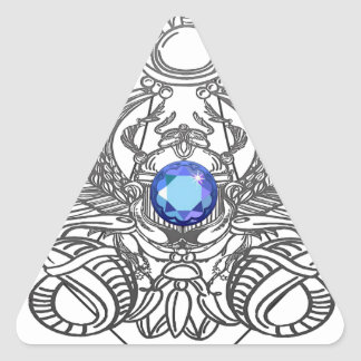 Pegatina Triangular egipto dioses torus