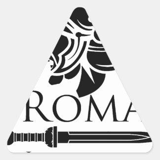 Pegatina Triangular Ejército romano - legionario con Gladio