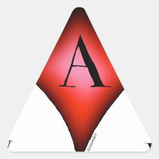 Pegatina Triangular El as de diamantes de Tony Fernandes