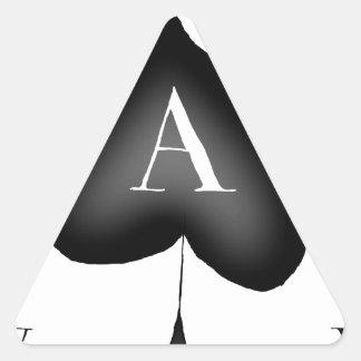 Pegatina Triangular El as de espadas de Tony Fernandes