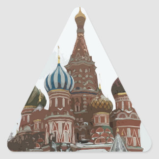 Pegatina Triangular El cathedral_eng de la albahaca del santo