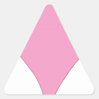 Pegatina Triangular el diamante rosado