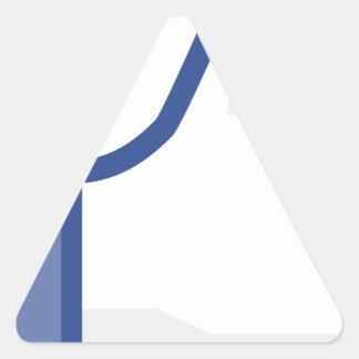 Pegatina Triangular ¡el facebook TIENE GUSTO de mí de manosear con los