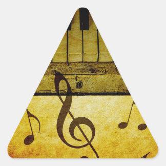 Pegatina Triangular El piano cierra el vintage