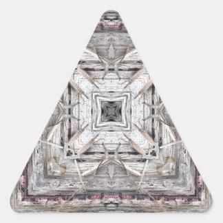 Pegatina Triangular El rosa bonito teñió el modelo inspirado Azteca