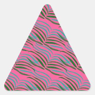 Pegatina Triangular El rosa de los elementos del diseño se va exótico