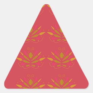 Pegatina Triangular Elementos del oro en rosa