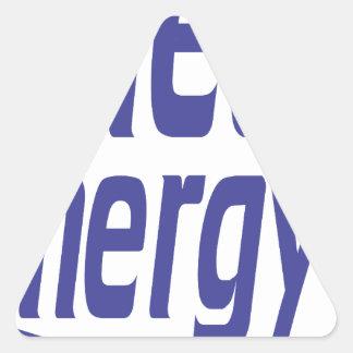 Pegatina Triangular Energía limpia