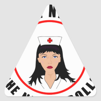 Pegatina Triangular Enfermera de Nicole