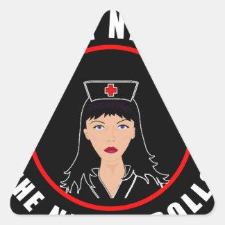 Pegatina Triangular Enfermera Nicole