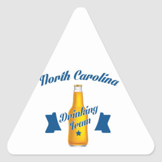 Pegatina Triangular Equipo de consumición de Carolina del Norte