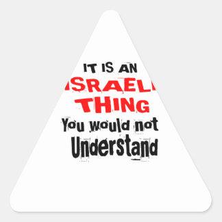 PEGATINA TRIANGULAR ES DISEÑOS ISRAELÍES DE LA COSA
