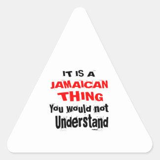 PEGATINA TRIANGULAR ES DISEÑOS JAMAICANOS DE LA COSA