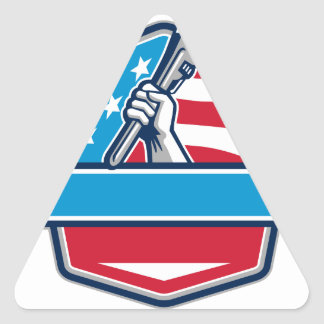 Pegatina Triangular Escudo de la bandera de los E.E.U.U. de la llave
