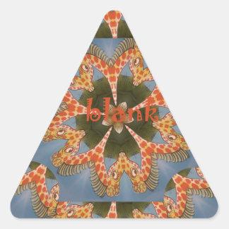 Pegatina Triangular Espacio en blanco colorido africano asombroso
