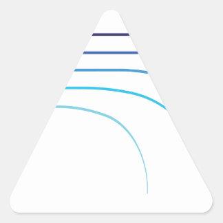 Pegatina Triangular Espacios en blanco curvados vector doblado de la