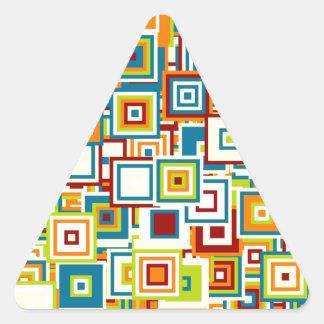 Pegatina Triangular Especie de pop