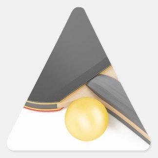 Pegatina Triangular Estafa y bola de tenis de mesa