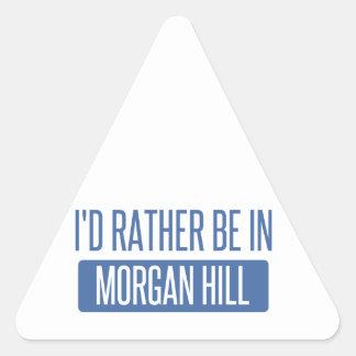 Pegatina Triangular Estaría bastante en la colina de Morgan