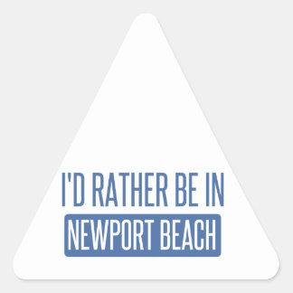 Pegatina Triangular Estaría bastante en la playa de Newport