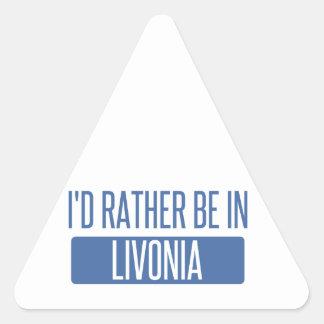Pegatina Triangular Estaría bastante en Livonia