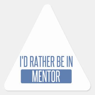 Pegatina Triangular Estaría bastante en mentor
