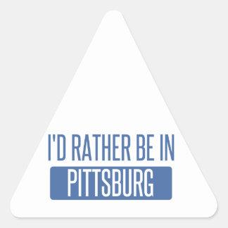 Pegatina Triangular Estaría bastante en Pittsburg