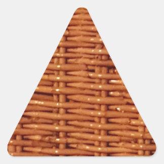 Pegatina Triangular Estilo rural de mimbre rústico de la cesta de la
